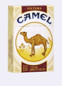 :the ineffable, time-tested classic camel cigarette pack: