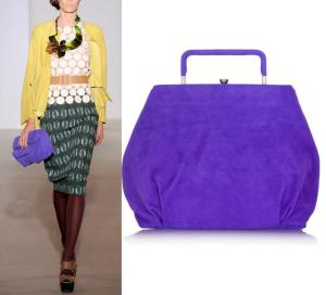 :marni's fabulous violet suede take on the classic: