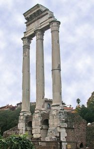 :twinnies got a temple (or, ruins of one) in rome: