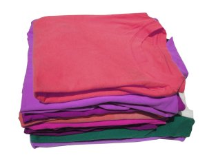 :what a gorgeous pile of folded t-shirts!: