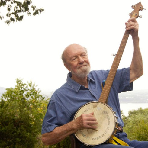 :pete, with the banjo, at 86: