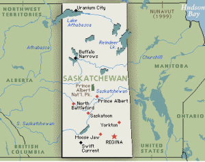 Saskatchewan, very rectangular