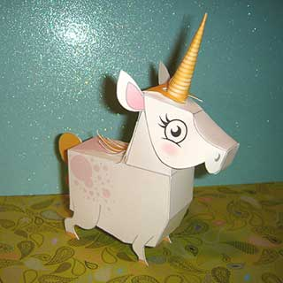 unicorn-papercraft
