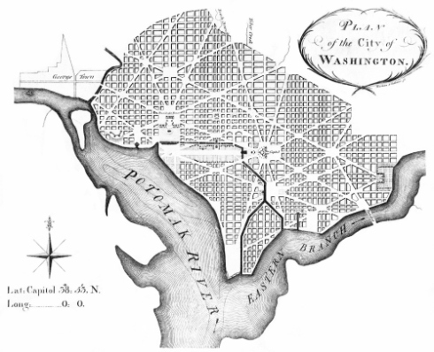 L'enfant's plan for DC